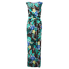 Buy Gina Bacconi Tropical Print Jersey Dress, Blue Online at johnlewis.com