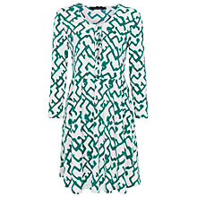 Buy French Connection Downtown Grid Flared Dress, Southern Glades Online at johnlewis.com