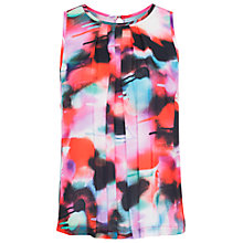 Buy French Connection Miami Graffiti Pleat Top, Keywest Coral/Multi Online at johnlewis.com