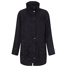 Buy Four Seasons Spot Print Parka Jacket, Navy Online at johnlewis.com