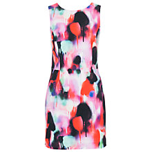 Buy French Connection Miami Graffiti Mini Dress, Keywest Coral Multi Online at johnlewis.com