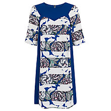 Buy French Connection Bonita Spring Stripe Tunic Dress, Monarch Blue/Multi Online at johnlewis.com