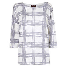 Buy Phase Eight Ruby-Rose Check Top, White/Silver Online at johnlewis.com