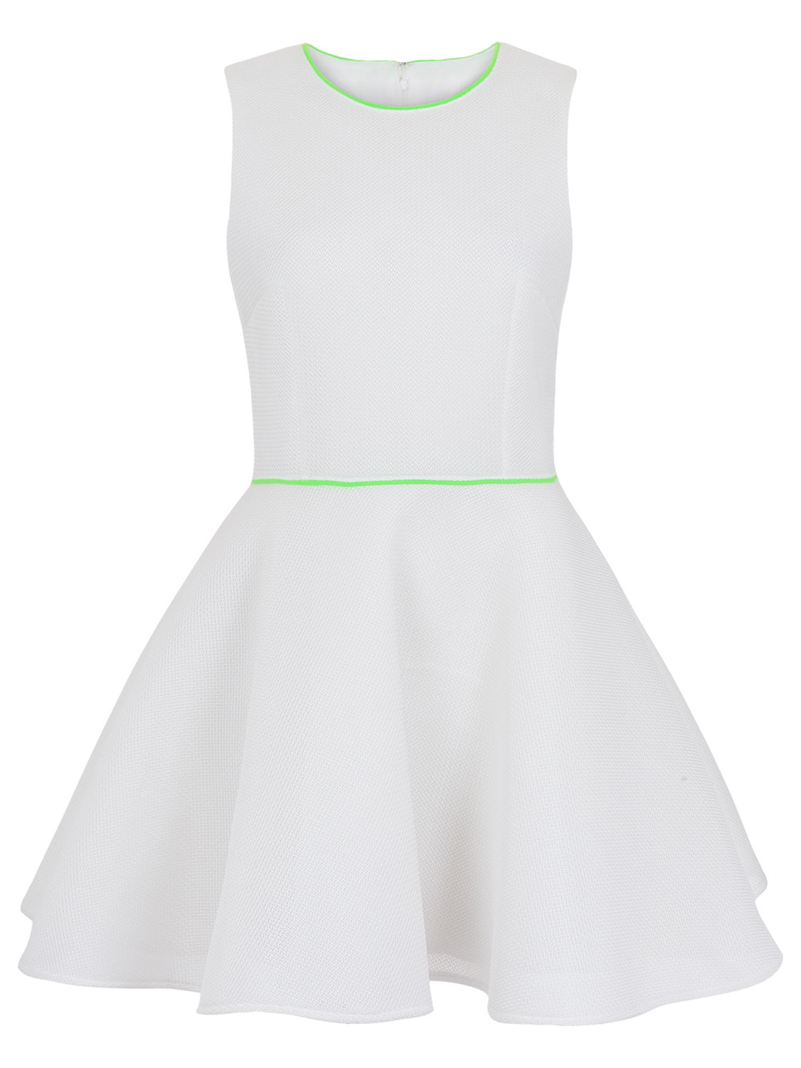 french connection honey mesh sleeveless dress white / fluro green, french, connection, honey, mesh, sleeveless, dress, white, fluro, green, french connection, 16|12|8|6|14|10, women, womens dresses, 1911167