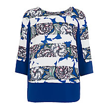 Buy French Connection Mon Bonita Spring Stripe Tunic Top, Monarch Blue / Multi Online at johnlewis.com