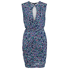 Buy French Connection Confetti Grid Jersey Dress, Monarch Blue Online at johnlewis.com