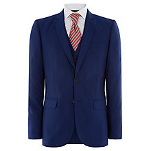 Buy Jaeger Cool Wool Plain Weave Suit Jacket, Bright Blue Online at johnlewis.com