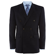 Buy Jaeger Plain Twill Double Breasted Modern Blazer, Navy Online at johnlewis.com