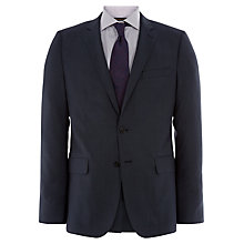 Buy Jaeger Micro Herringbone Slim Suit Jacket, Airforce Blue Online at johnlewis.com