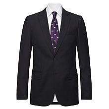 Buy Jaeger Plain Twill Modern Wool Jacket, Navy Online at johnlewis.com