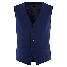 Buy Jaeger Cool Wool Plain Weave Waistcoat, Bright Blue Online at johnlewis.com