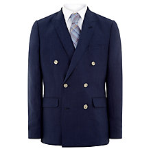 Buy Jaeger Linen Modern Blazer, Navy Online at johnlewis.com