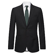 Buy Jaeger Plain Twill Modern Wool Jacket, Black Online at johnlewis.com