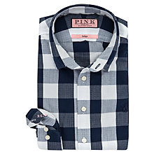 Buy Thomas Pink Combes Slim Fit Check Shirt, Navy/White Online at johnlewis.com