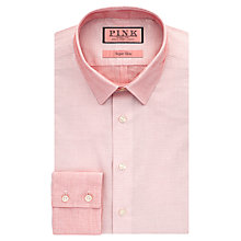 Buy Thomas Pink Connolly Textured Super Slim Fit Shirt, White/Red Online at johnlewis.com