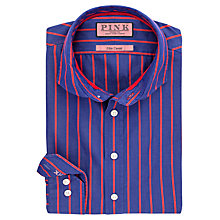 Buy Thomas Pink Elvis Stripe Slim Fit Shirt, Blue/Red Online at johnlewis.com