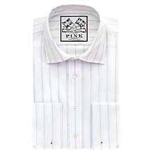 Buy Thomas Pink Alford Stripe Slim Fit Double Cuff Shirt Online at johnlewis.com