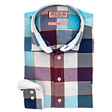 Buy Thomas Pink Douglas Check Casual Shirt, Blue/Purple Online at johnlewis.com