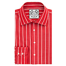 Buy Thomas Pink Damien Stripe Slim Fit Button Cuff Shirt, Red/White Online at johnlewis.com