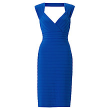 Buy Adrianna Papell Open Back Banded Dress, Prussian Online at johnlewis.com