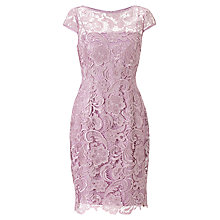 Buy Adrianna Papell Lace Dress, Icy Lilac Online at johnlewis.com