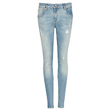 Buy Ted Baker Abrasion Skinny Jeans, Light Wash Online at johnlewis.com
