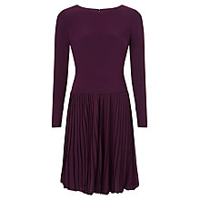 Buy Adrianna Papell Pleated Fit And Flare Dress, Pansy Online at johnlewis.com
