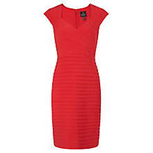 Buy Adrianna Papell Banded Crossover Dress, Poppy Online at johnlewis.com