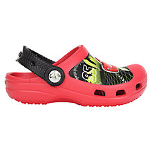 Buy Crocs Children's Disney Cars Clogs, Red/Black Online at johnlewis.com