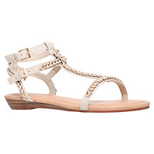 Buy Miss KG Roz Chain Link Flat Sandals, Nude Online at johnlewis.com