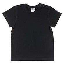 Buy Polarn O. Pyret Baby's Organic Cotton T-Shirt, Black Online at johnlewis.com