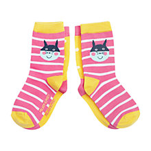 Buy Polarn O. Pyret Baby Animal Socks, Pack of 2, Pink Online at johnlewis.com