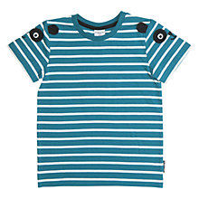 Buy Polarn O. Pyret Children's Appliqué Stripe T-Shirt, Blue Online at johnlewis.com