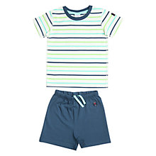 Buy Polarn O. Pyret Baby's Shortie Pyjamas, Blue/Multi, 1-2 months Online at johnlewis.com