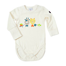 Buy Polarn O. Pyret Baby Printed Bodysuit, White Online at johnlewis.com