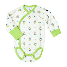 Buy Polarn O. Pyret Baby Cow Print Bodysuit, Green Online at johnlewis.com