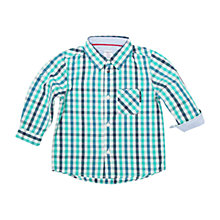 Buy Polarn O. Pyret Baby Checked Shirt, Blue Online at johnlewis.com