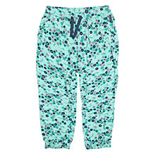 Buy Polarn O. Pyret Baby's Floral Trousers, Blue Online at johnlewis.com