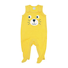 Buy Polarn O. Pyret Baby Cat Romper, Yellow Online at johnlewis.com