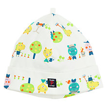 Buy Polarn O. Pyret Baby Animal Beanie Hat, White Online at johnlewis.com