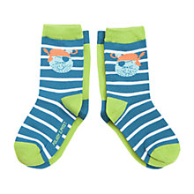 Buy Polarn O. Pyret Children's Animal Socks, Pack of 2, Navy Online at johnlewis.com