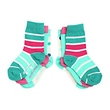 Buy Polarn O. Pyret Baby Colourful Printed Socks, Pack of 3, Pink Online at johnlewis.com