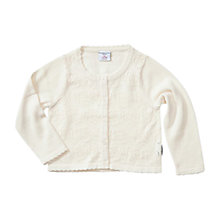 Buy Polarn O. Pyret Baby Pointelle Cotton Cardigan, White Online at johnlewis.com