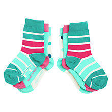 Buy Polarn O. Pyret Girls' Colourful Printed Socks, Pack of 3, Pink Online at johnlewis.com