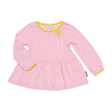 Buy Polarn O. Pyret Baby Polka Dot Top, Pink Online at johnlewis.com