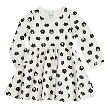 Buy Polarn O. Pyret Girls' Cat Print Dress, White Online at johnlewis.com