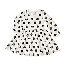 Buy Polarn O. Pyret Baby's Cat Print Dress, White Online at johnlewis.com