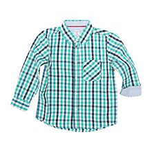 Buy Polarn O. Pyret Children's Checked Shirt, Blue Online at johnlewis.com