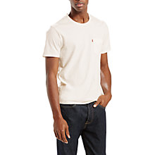 Buy Levi's One Pocket Short Sleeve T-Shirt, Grey Heather Online at johnlewis.com