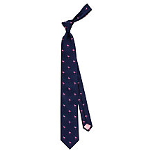 Buy Thomas Pink Flamingo Silk Tie, Navy Online at johnlewis.com